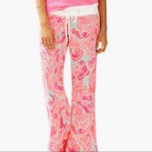 Lilly Pulitzer Linen Beach Pink Pants Size Small